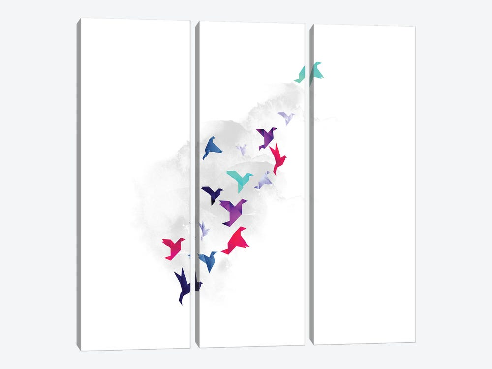 Paper Birds 3-piece Canvas Art Print