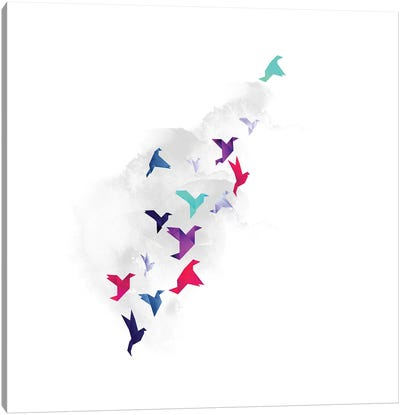 Paper Birds Canvas Art Print