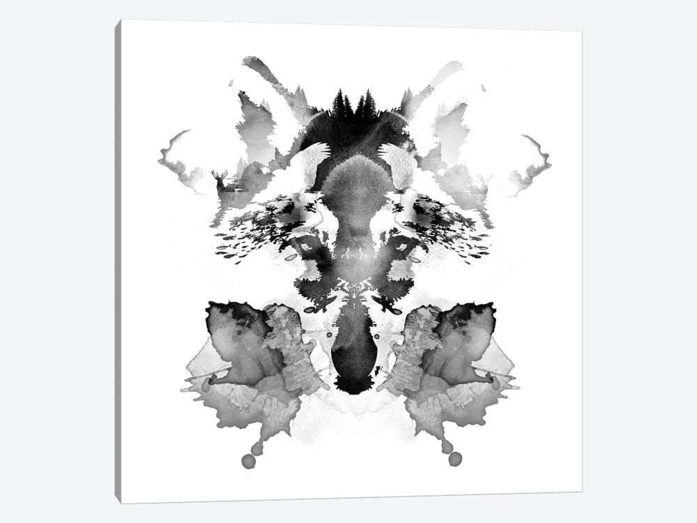 Rorschach by Robert Farkas 1-piece Canvas Art Print