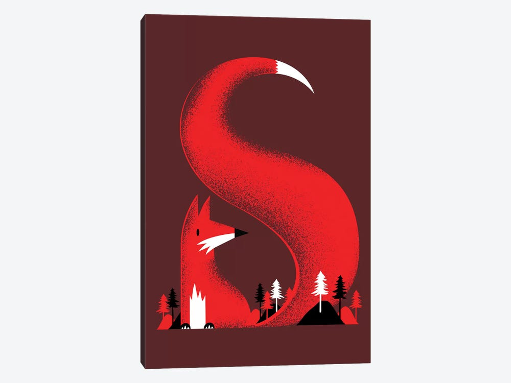 S Like A Fox 1-piece Canvas Wall Art