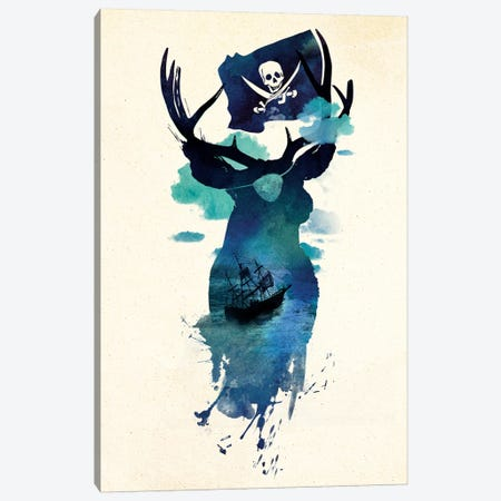 Captain Hook Canvas Print #RFA3} by Robert Farkas Canvas Wall Art
