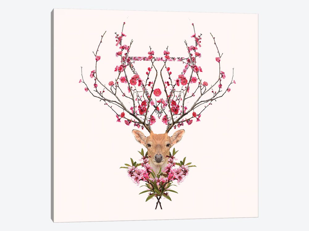 Spring Deer 1-piece Canvas Art