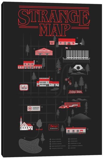 Strange Map Canvas Art Print