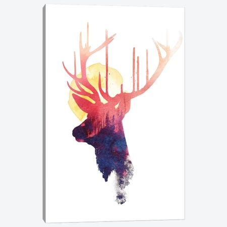 The Burning Sun Canvas Print #RFA43} by Robert Farkas Canvas Wall Art