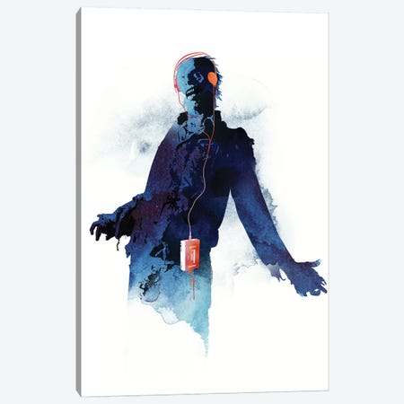 Walkman Dead Canvas Print #RFA54} by Robert Farkas Canvas Art