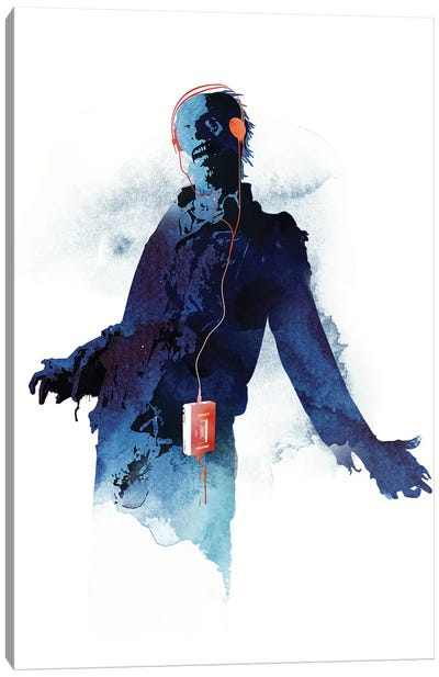 Walkman Dead Canvas Art Print