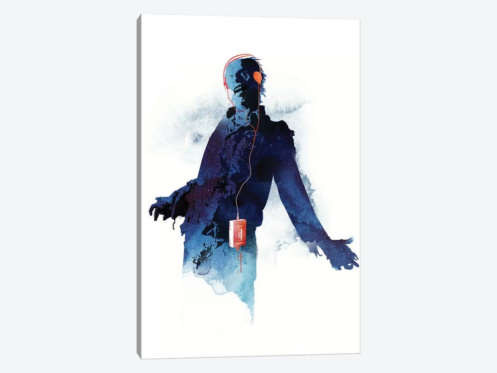 Walkman Dead by Robert Farkas 1-piece Canvas Print