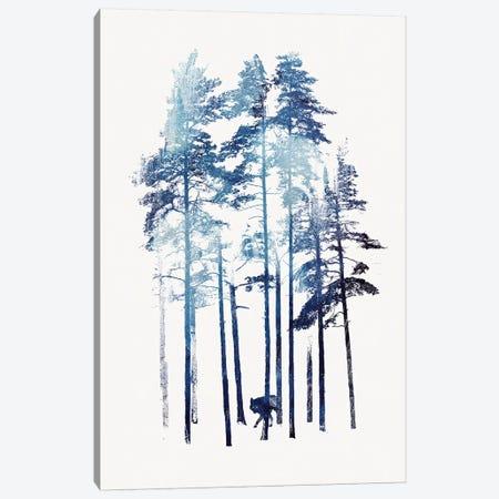 Winter Wolf Canvas Print #RFA56} by Robert Farkas Canvas Art