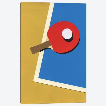 Table Tennis Team Red Canvas Print #RFE104} by Rosi Feist Canvas Art Print
