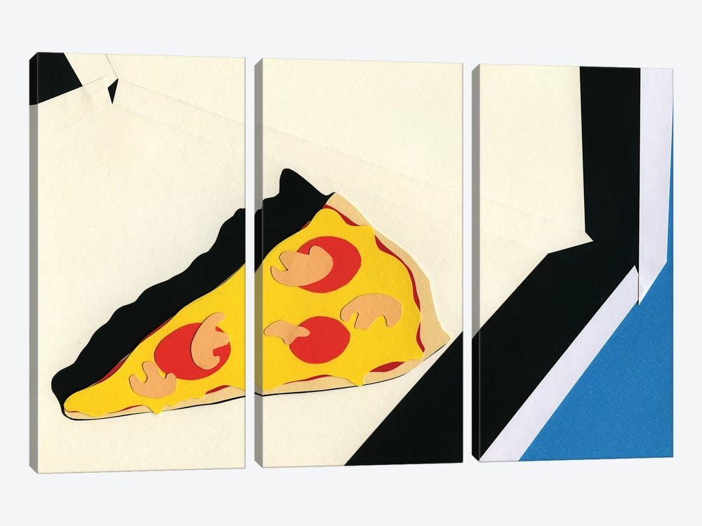 The Last Slice by Rosi Feist 3-piece Canvas Print