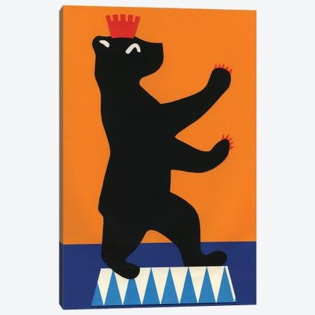 Berlin Bear Canvas Print #RFE10} by Rosi Feist Canvas Print