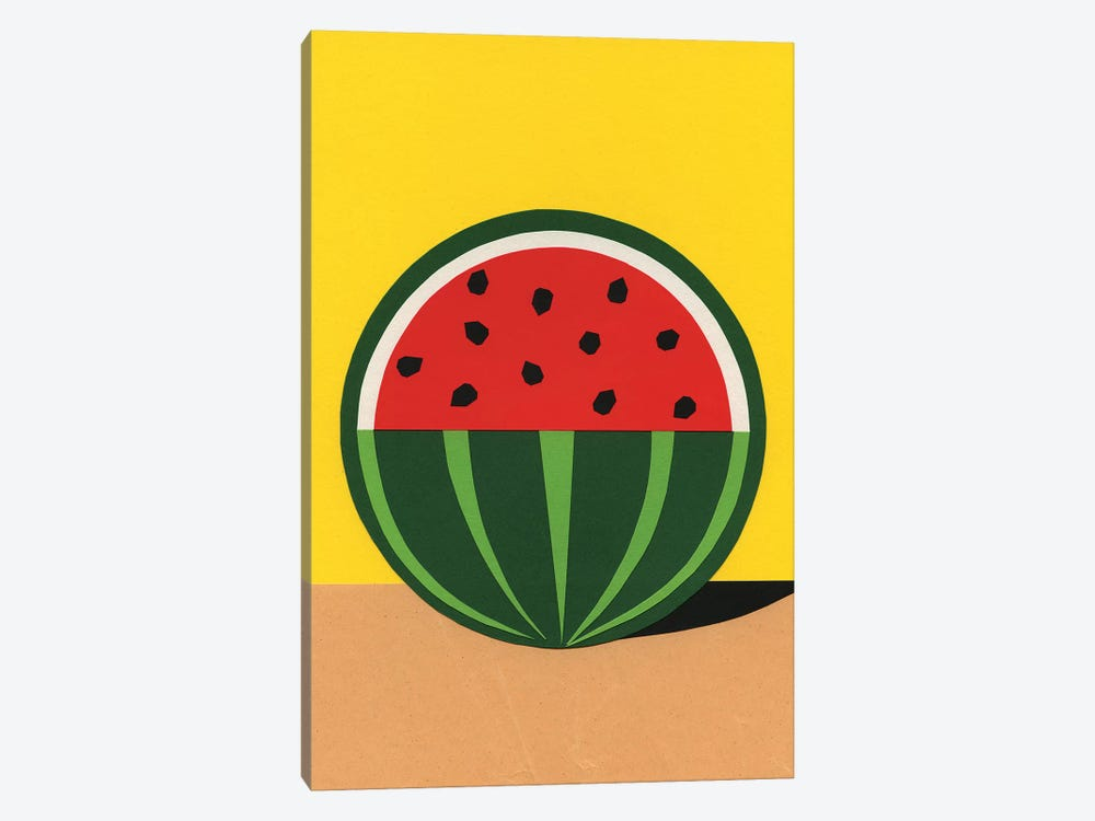 Three Quarter Watermelon by Rosi Feist 1-piece Canvas Print