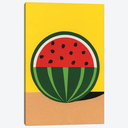 Three Quarter Watermelon Canvas Print #RFE110} by Rosi Feist Canvas Art Print