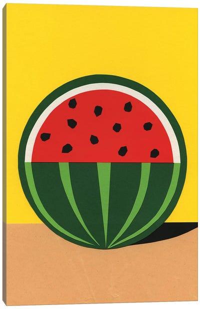 Three Quarter Watermelon Canvas Art Print