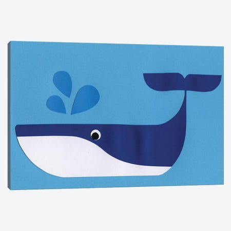 Whale Paloo Canvas Print #RFE117} by Rosi Feist Canvas Artwork