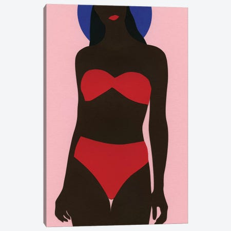 Women On The Beach Canvas Print #RFE119} by Rosi Feist Art Print