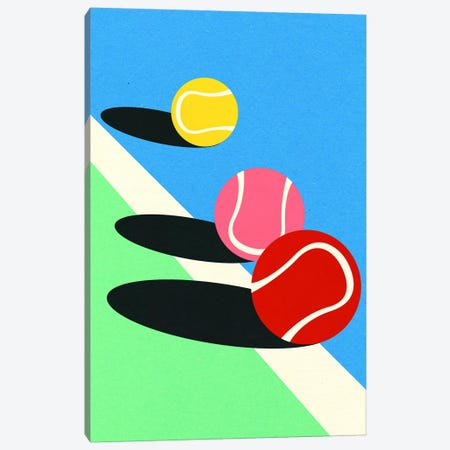 3 Tennis Balls Canvas Print #RFE120} by Rosi Feist Canvas Art