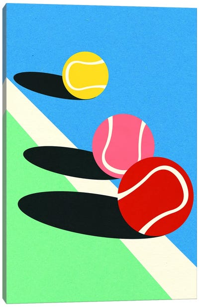 3 Tennis Balls Canvas Art Print