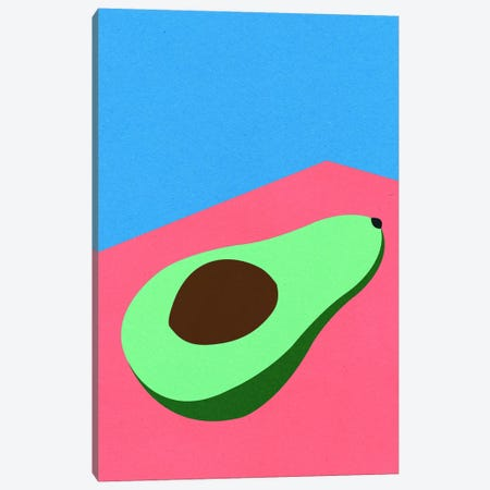 Avocado On The Table Canvas Print #RFE122} by Rosi Feist Canvas Wall Art