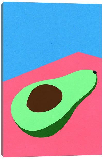 Avocado On The Table Canvas Art Print