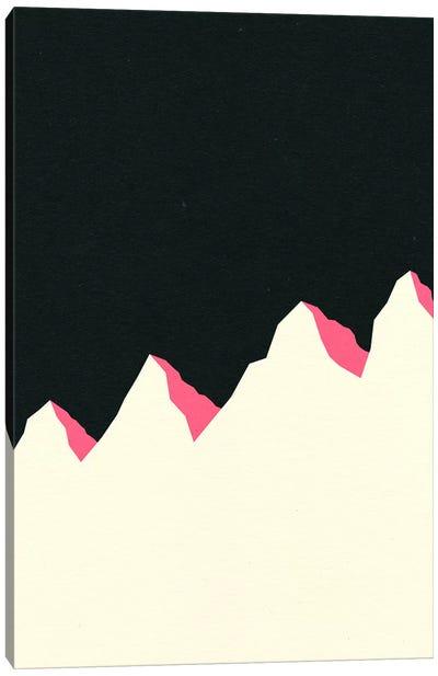 Dark Night White Mountains Canvas Art Print