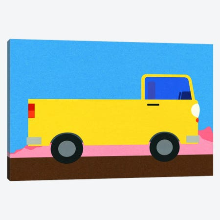 Little Yellow Pick Up Truck Canvas Print #RFE126} by Rosi Feist Canvas Art Print