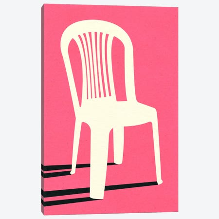 Monobloc Plastic Chair No I Canvas Print #RFE128} by Rosi Feist Canvas Artwork