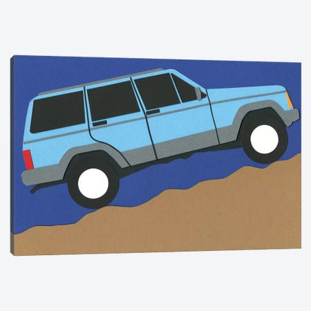 Blue SUV Canvas Print #RFE12} by Rosi Feist Art Print