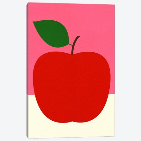 Red Apple Canvas Print #RFE131} by Rosi Feist Art Print
