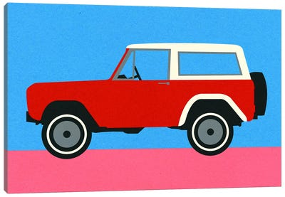 Red SUV Canvas Art Print