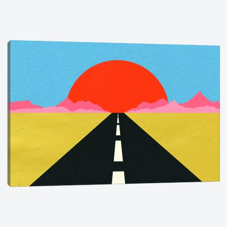 Road To Sun Canvas Print #RFE133} by Rosi Feist Art Print