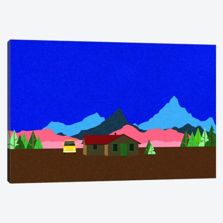 Sierra Nevada Mountain Hut Canvas Print #RFE134} by Rosi Feist Canvas Artwork