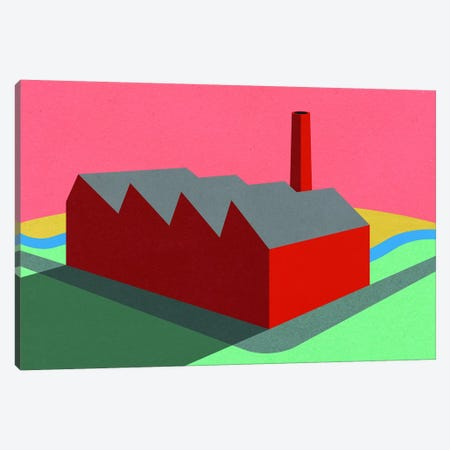 Sunset Factory Canvas Print #RFE135} by Rosi Feist Canvas Art