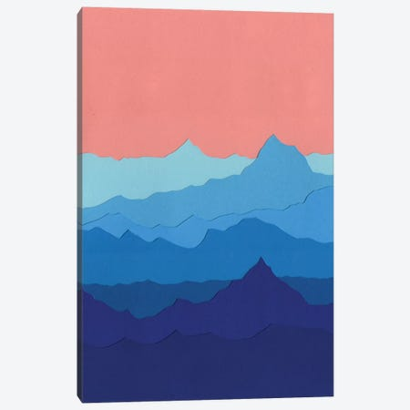 Blue Mountains Canvas Print #RFE13} by Rosi Feist Canvas Print