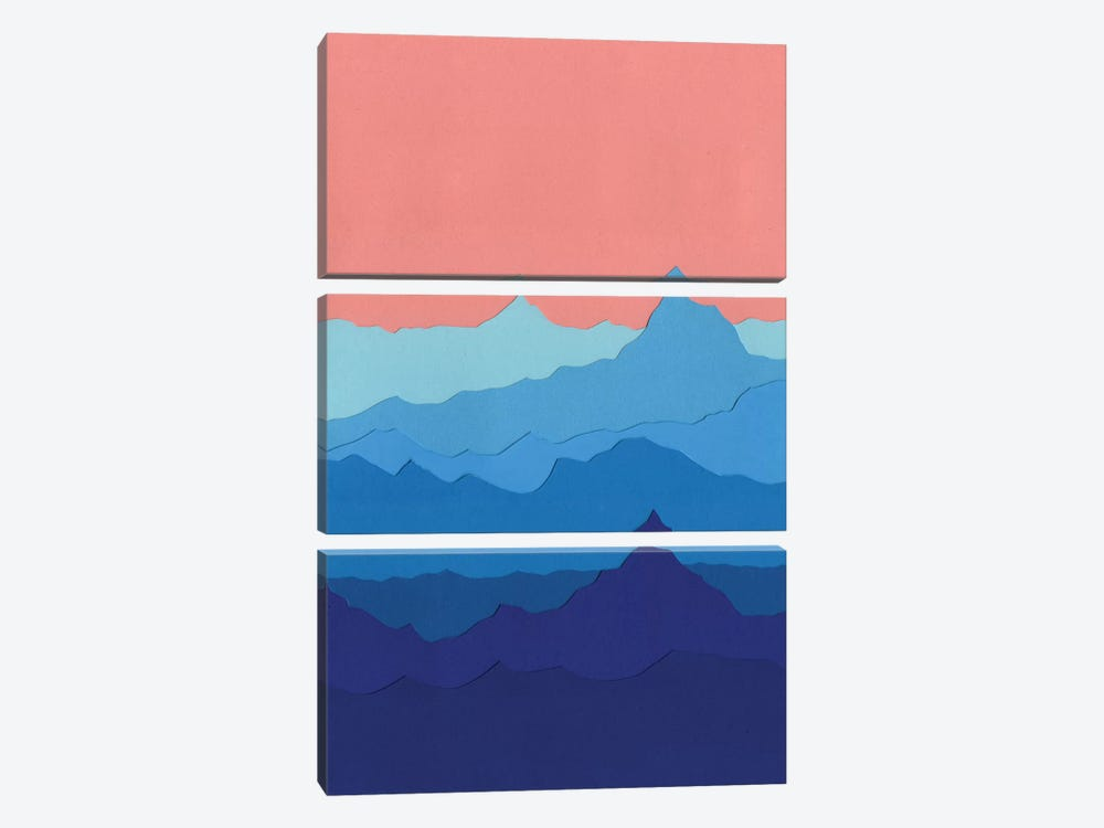 Blue Mountains by Rosi Feist 3-piece Art Print