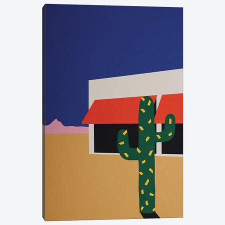 Boutique With Cactus Canvas Print #RFE14} by Rosi Feist Canvas Artwork