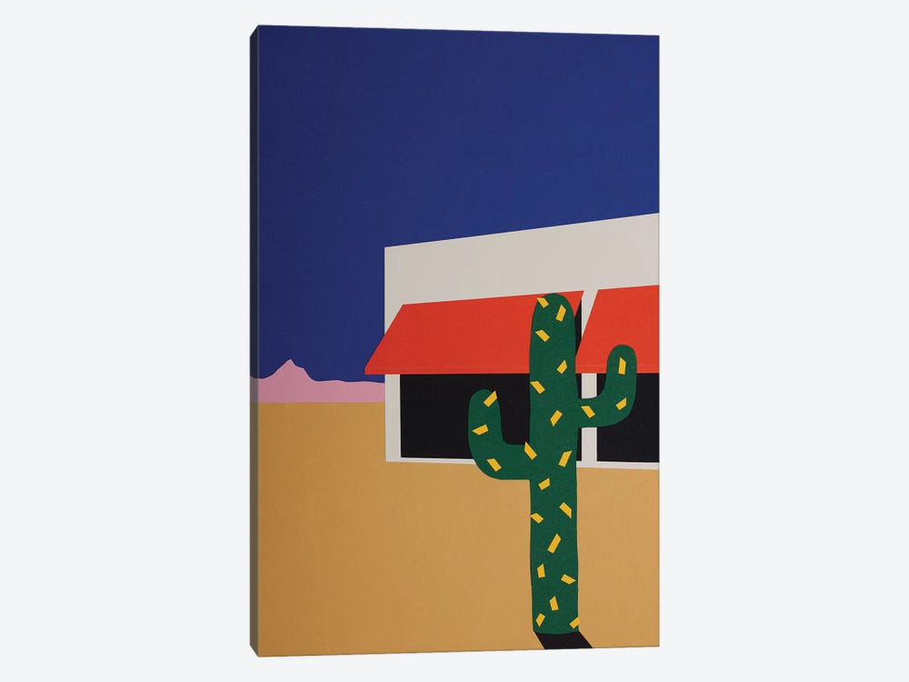 Boutique With Cactus by Rosi Feist 1-piece Canvas Wall Art