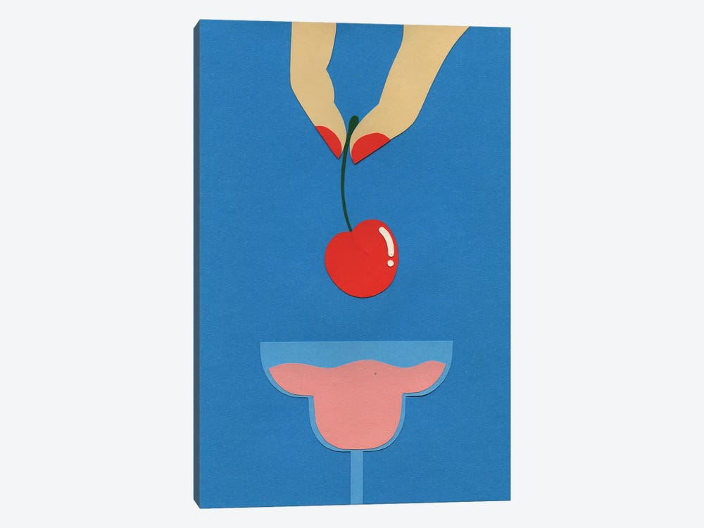 Cherry Nails II by Rosi Feist 1-piece Canvas Art Print