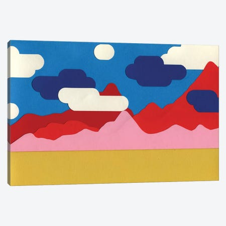 Cloudy Desert Video Game 3-Piece Canvas #RFE19} by Rosi Feist Art Print