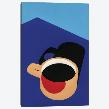 Cup of Coffee 3-Piece Canvas #RFE21} by Rosi Feist Canvas Art