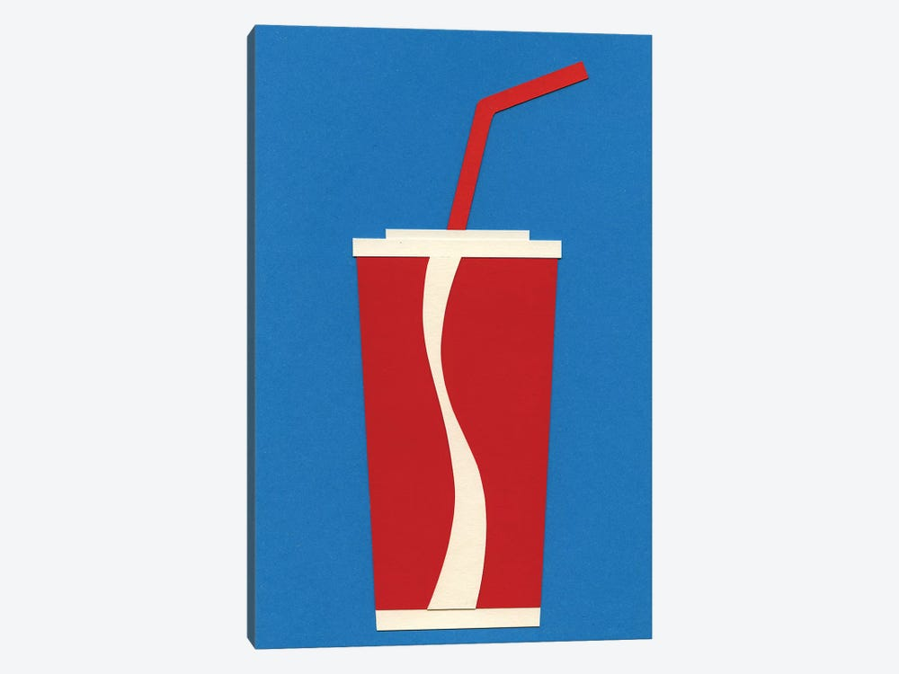 Cup of Coke by Rosi Feist 1-piece Canvas Art Print