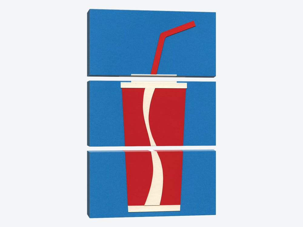 Cup of Coke by Rosi Feist 3-piece Canvas Art Print