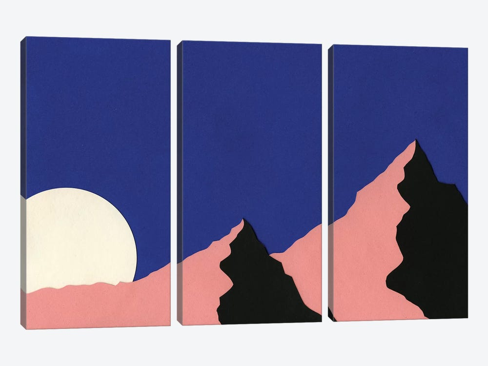 Death Valley Moon I 3-piece Canvas Wall Art