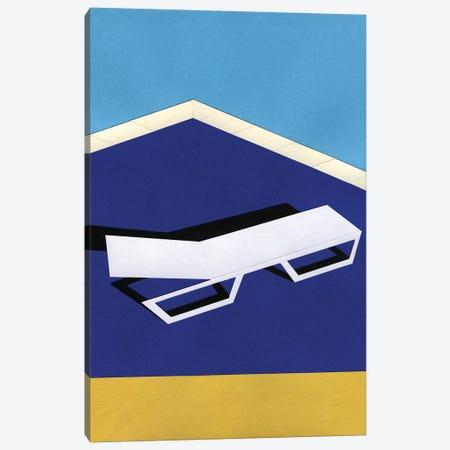 Deck Chair On Desert Pool Canvas Print #RFE27} by Rosi Feist Canvas Print