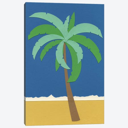 Desert Palm Canvas Print #RFE28} by Rosi Feist Canvas Artwork