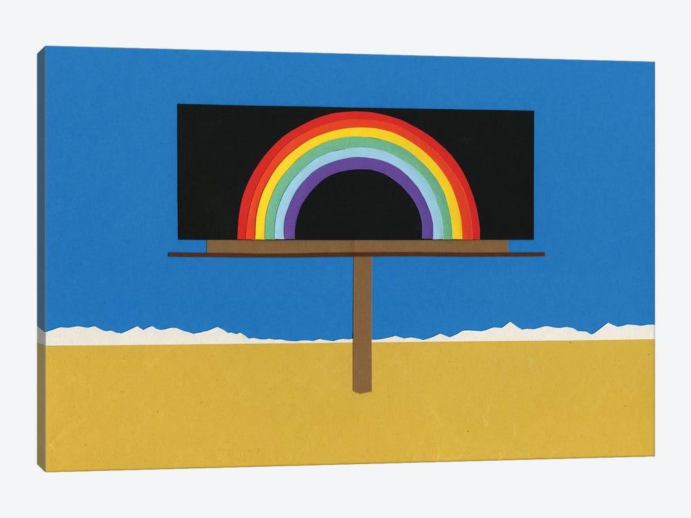 Desert Billboard With Rainbow by Rosi Feist 1-piece Canvas Artwork