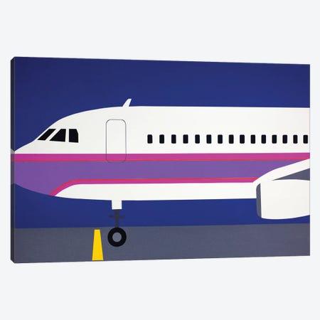 Airplane A320 Canvas Print #RFE2} by Rosi Feist Canvas Wall Art