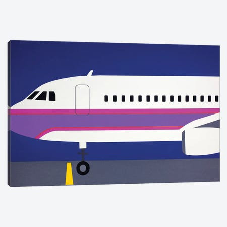 Airplane A320 Canvas Print #RFE2} by Rosi Feist Canvas Wall Art