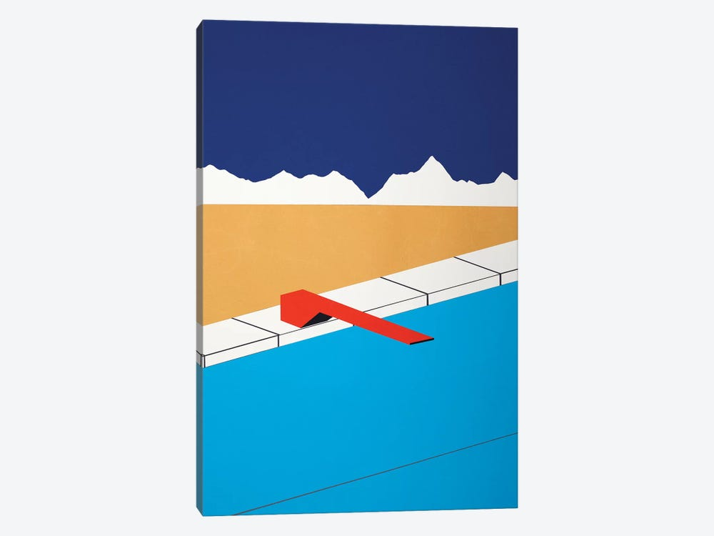 Desert Pool With Red Diving Board Canvas Wall Art By Rosi Feist | ICanvas