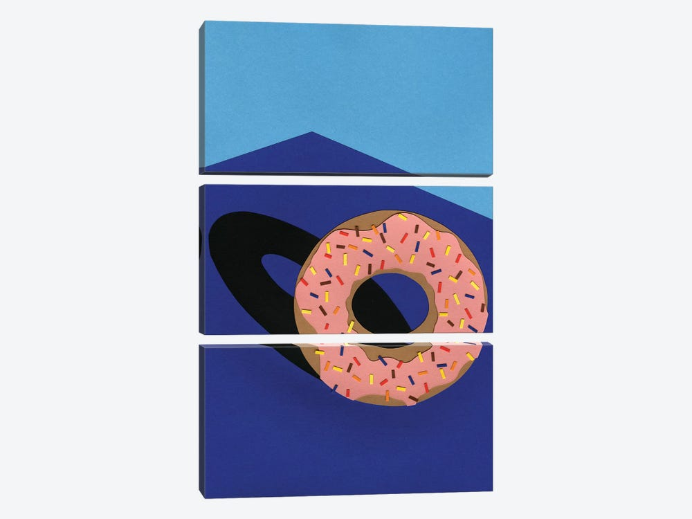 Donut In The Sun by Rosi Feist 3-piece Canvas Wall Art